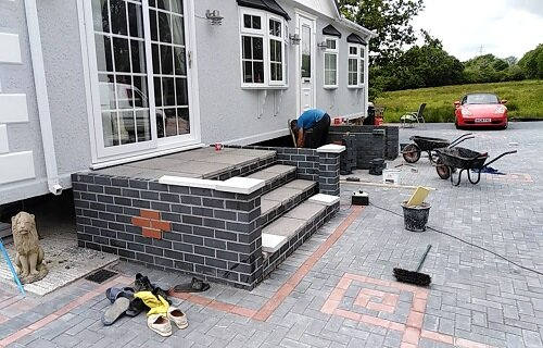 walling and steps penzance paving