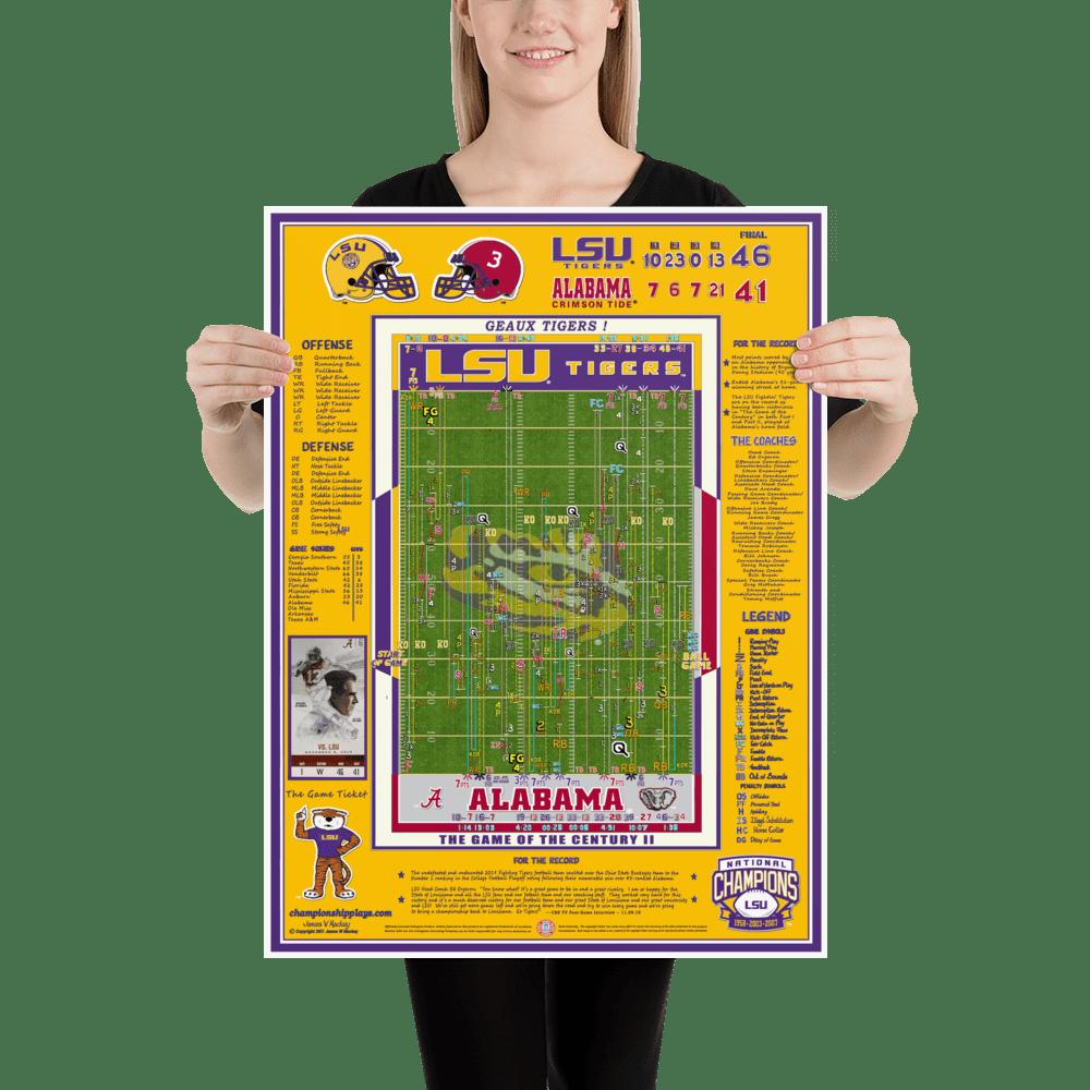 championship plays lsu football posters