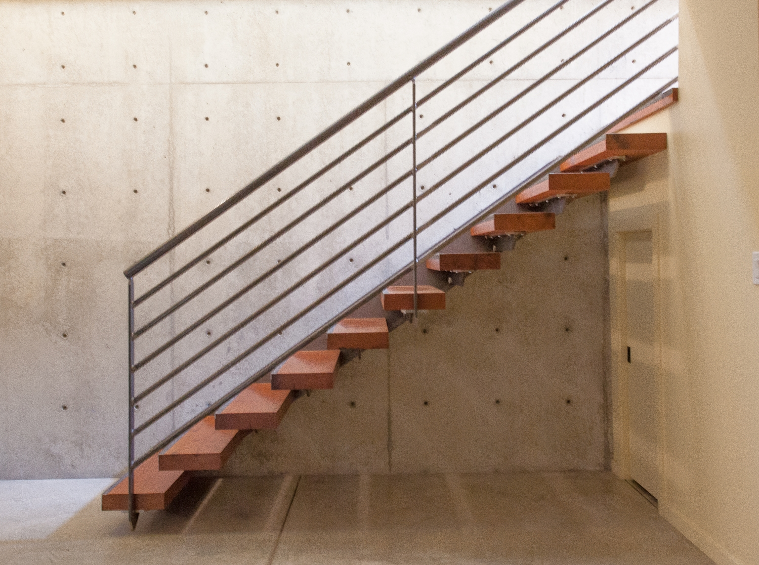 Enso Residence — Anthology Woods   Modern Wood Stair Treads   Country Style   Box   Square Edge   Eased   Open Riser