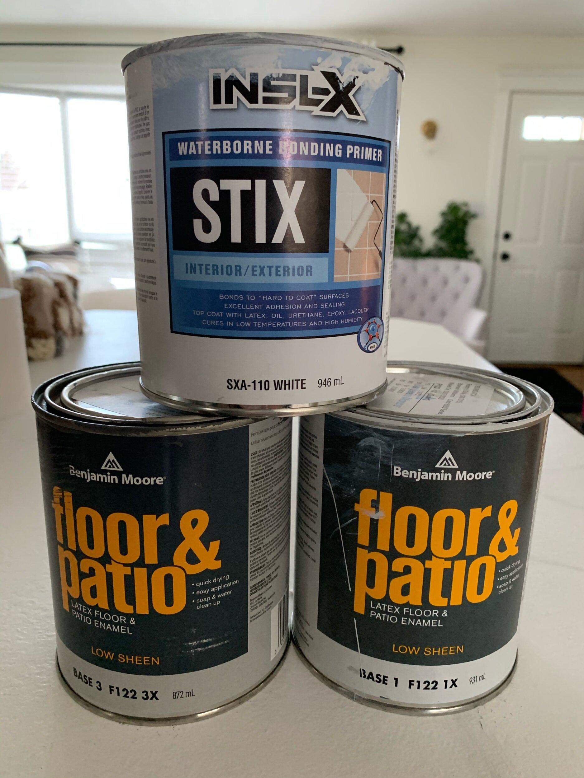 painted ceramic tile floors plus a 1