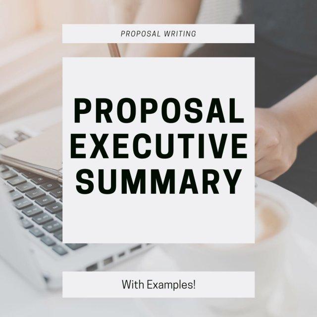 Proposal Executive Summary Examples — Utley Strategies