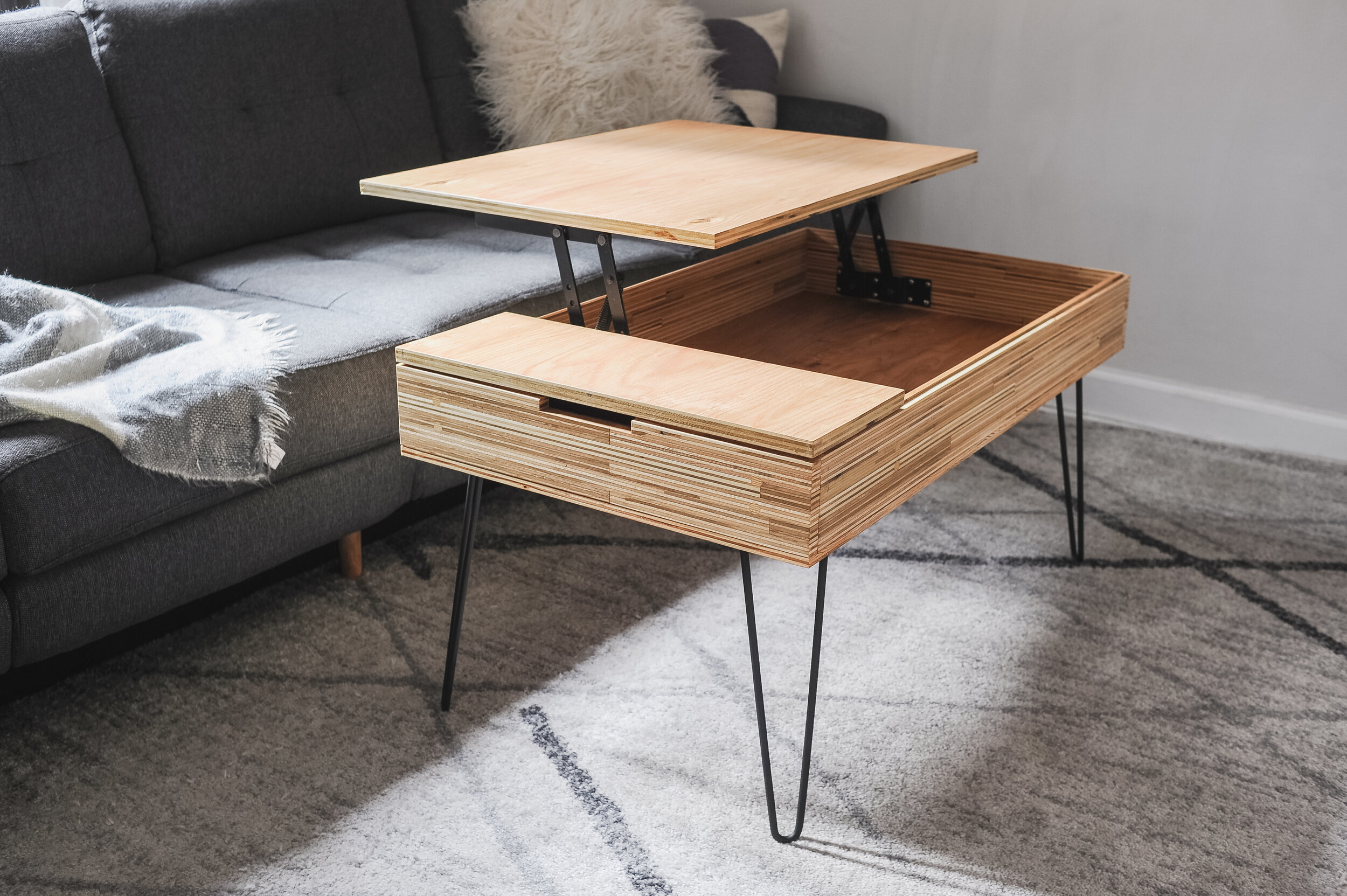 oak lift coffee table wesley wey