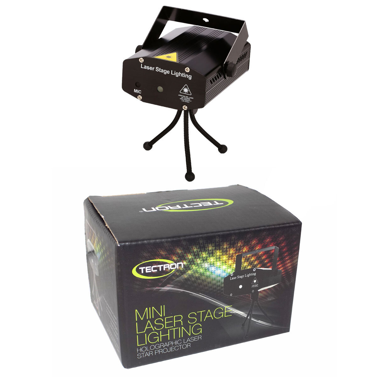 mini laser stage lighting sound activated tectron international