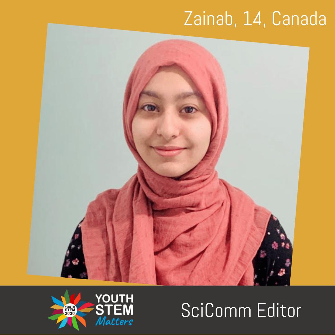 """sayida zainab"" is the reason behind ""dina"" wearing the hijab. Zainab Khan Science Communication Editor Youth Stem Matters Youth Stem 2030"