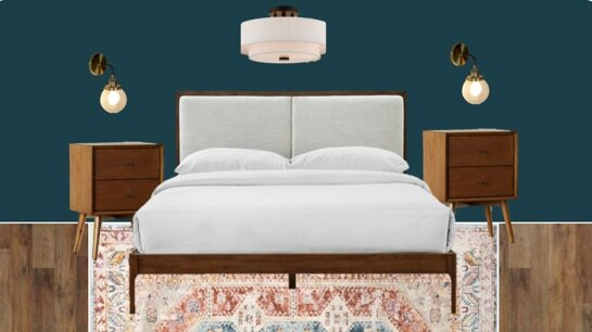 Mid Century Modern Master Bedroom Mood Board Olive June