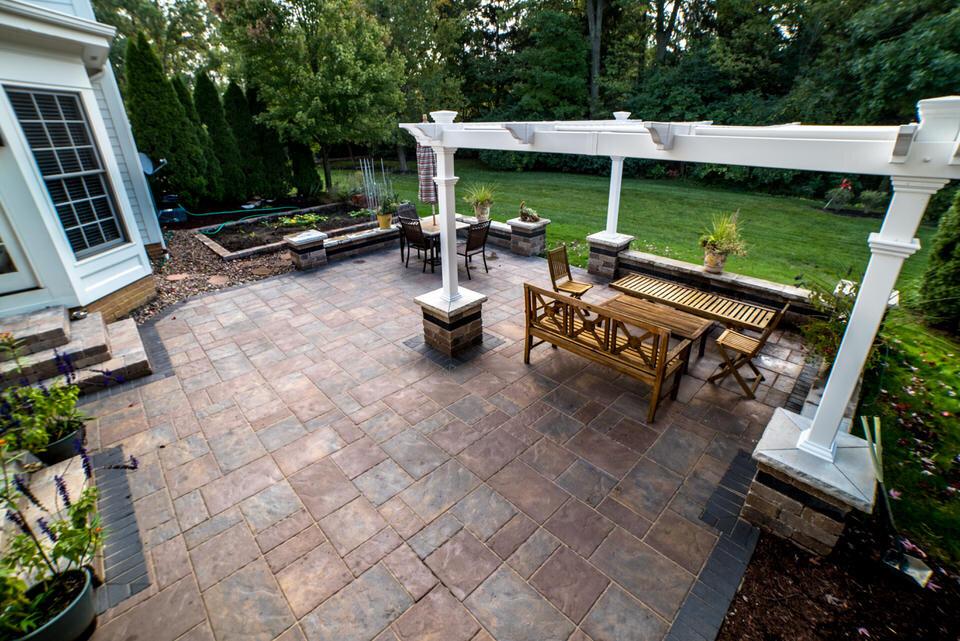 paver patio in powell hilliard dublin