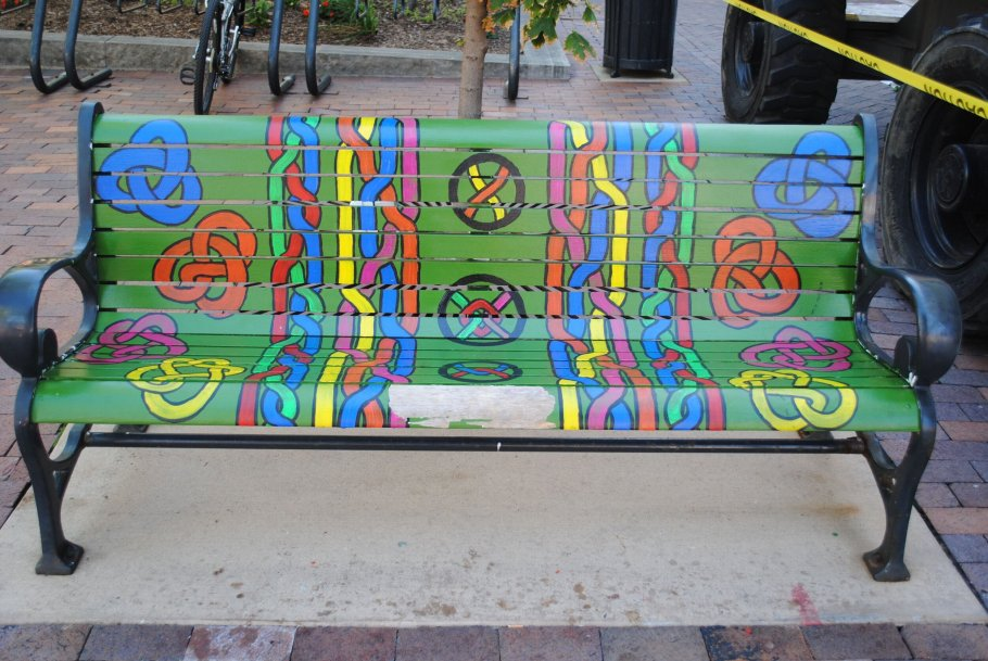 Community Bench Painting with Buffalo's Own, Inc.