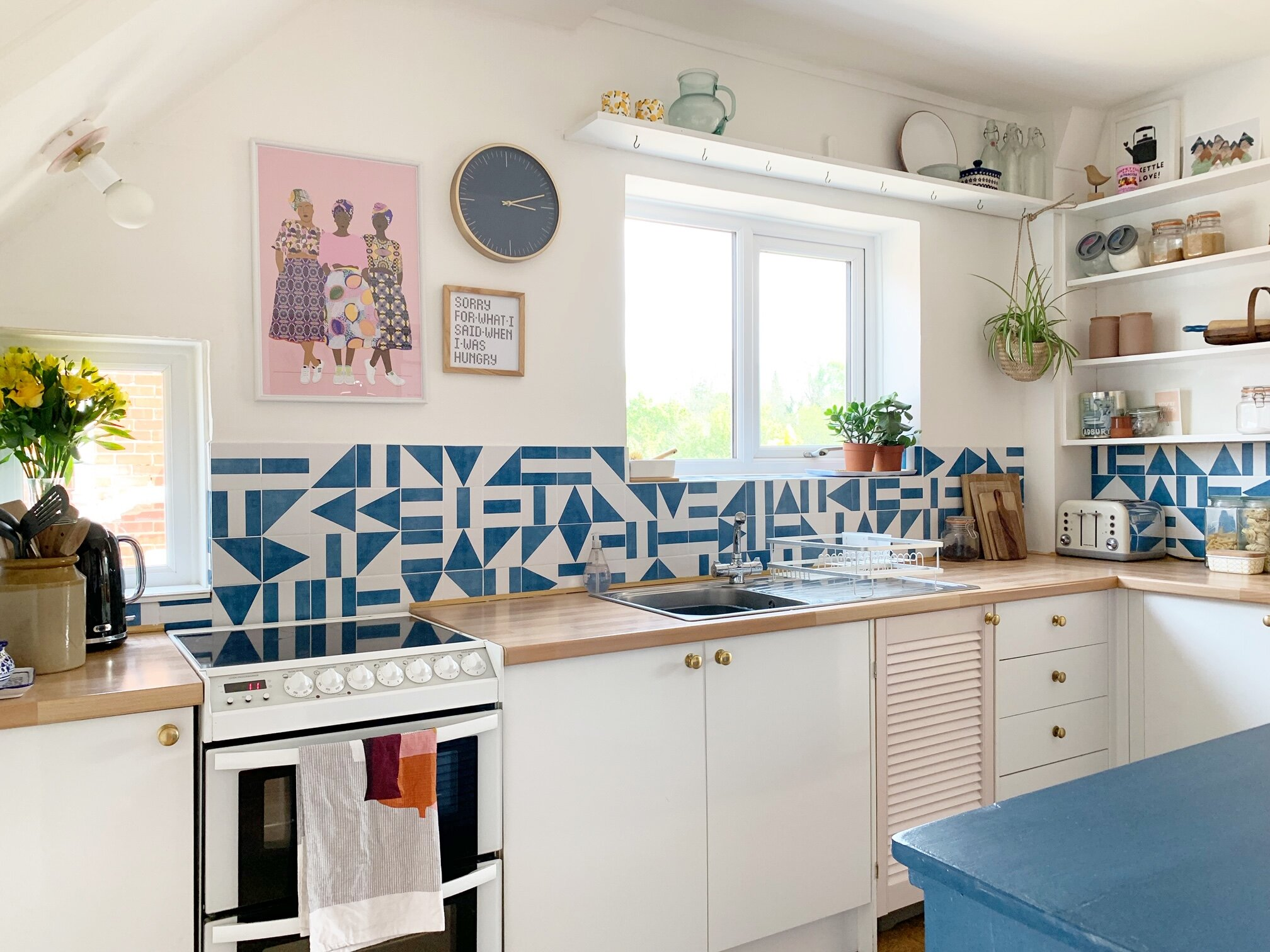 how to use tile stickers the otto house