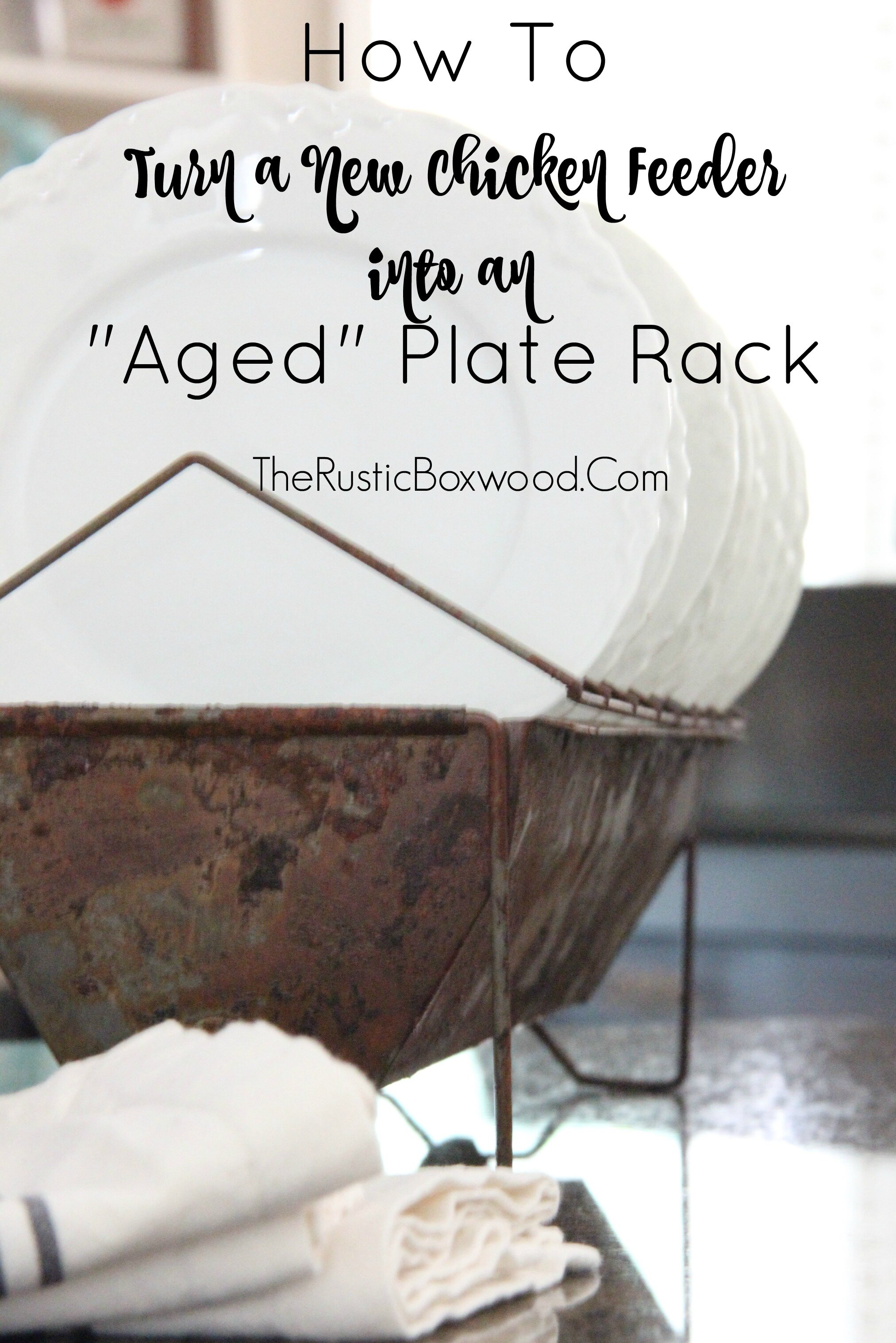 aged plate rack