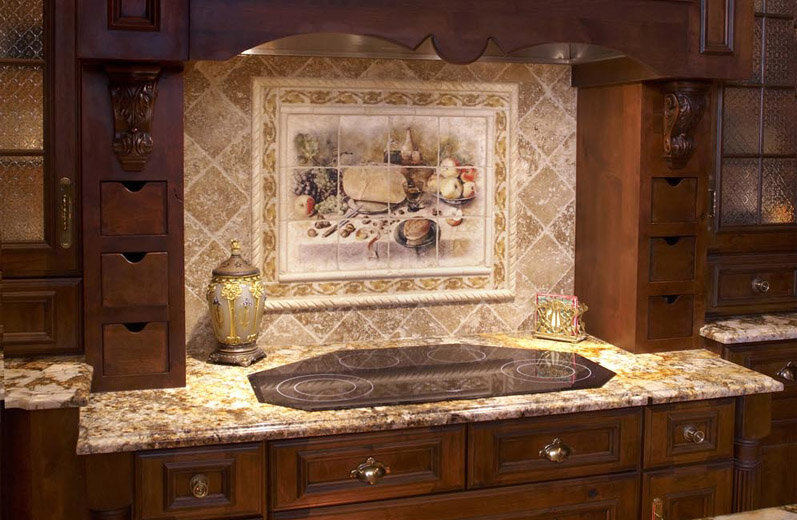 custom mural tiles by stone impressions