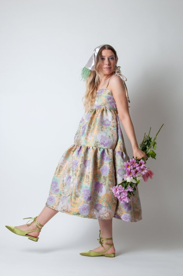 the willow dress in lilac bloom mia layzell