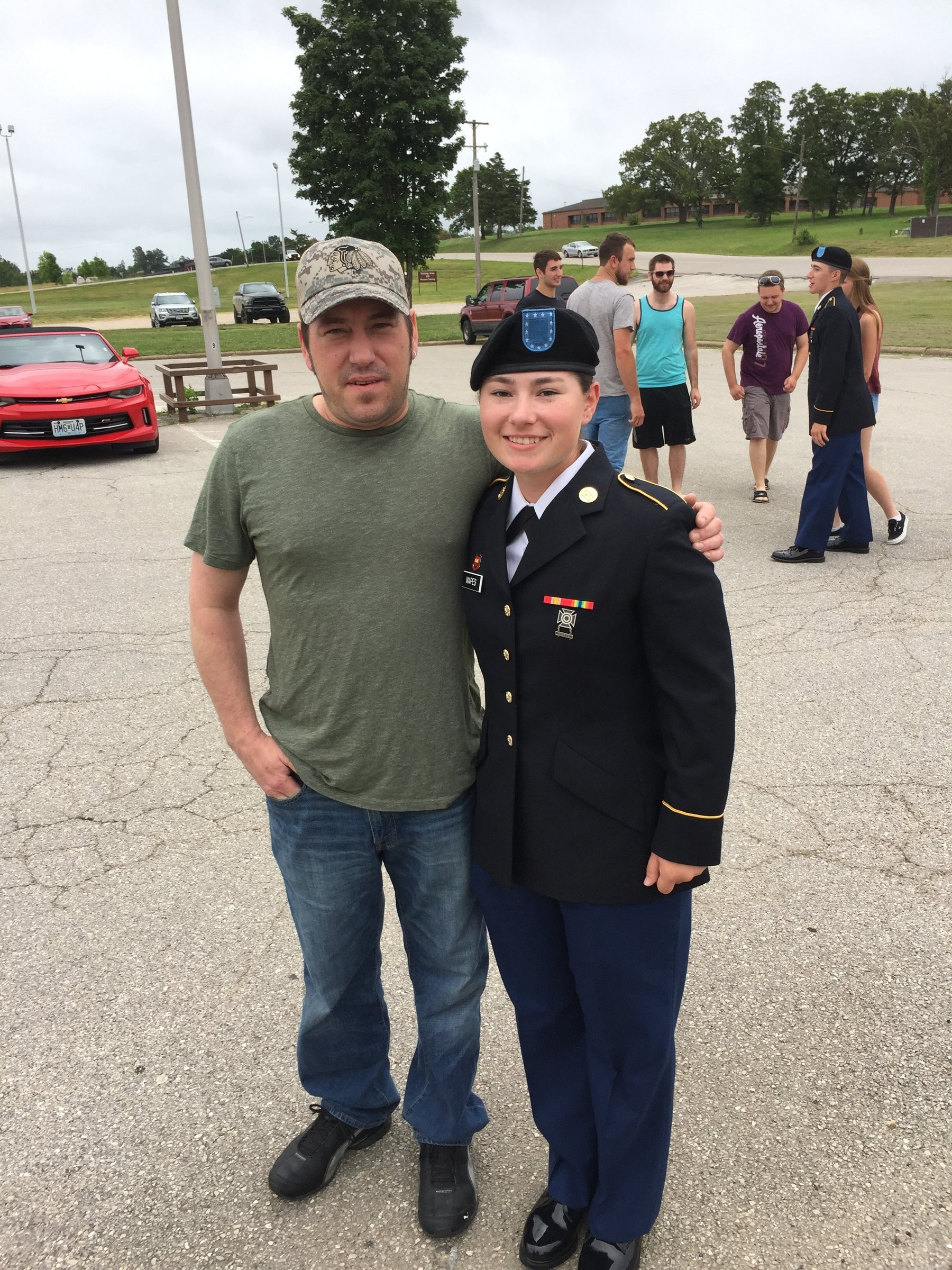 Ian Eckles, pictured with his daughter Audrie, who lives in Colorado, was immensely proud of her service in the U.S. Army. Eckles, who lived in Kent, disappeared May 16 in rural Kittitas County and is presumed dead. After a 23-day manhunt, Jorge Alcantara Gonzalez, 34, was arrested and booked on a second-degree murder charge in connection with Eckles' homicide.  (Courtesy of / the Eckles family)