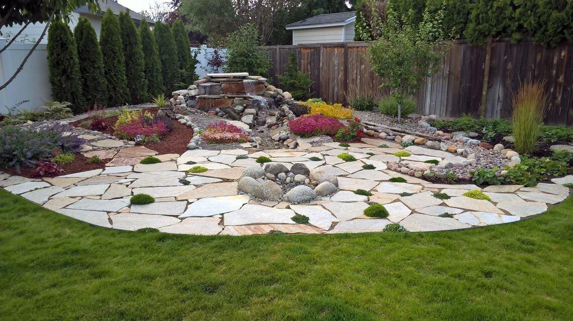 flagstone patio project photos