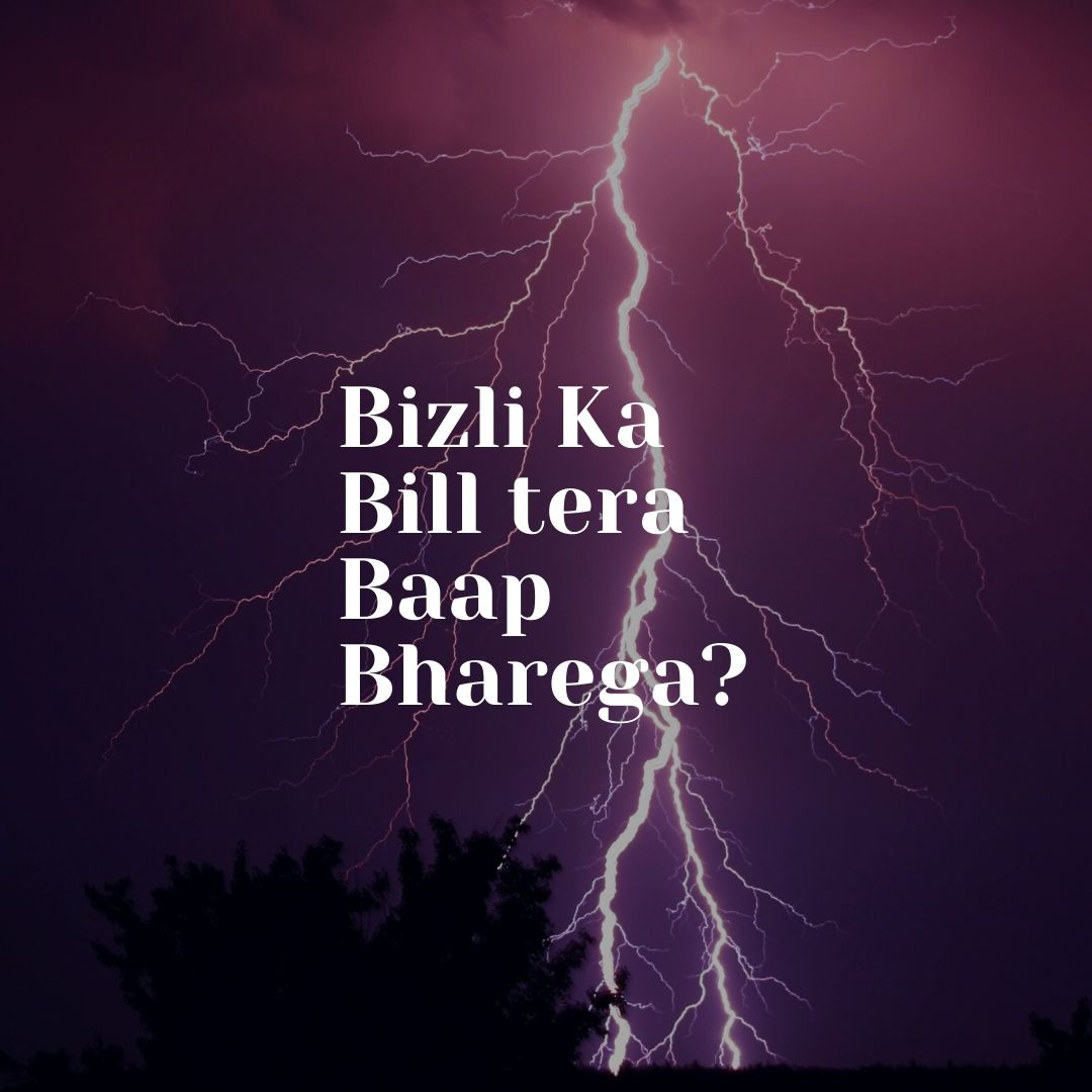 Bizli ka bill tera baap bharega Aashis Chanchalani Funny WhatsApp Dp Image full HD free download.