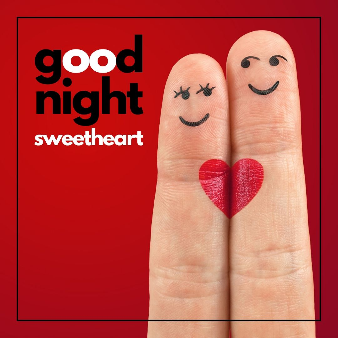 Cute Romantic Good Night SweetHeart Image full HD free download.