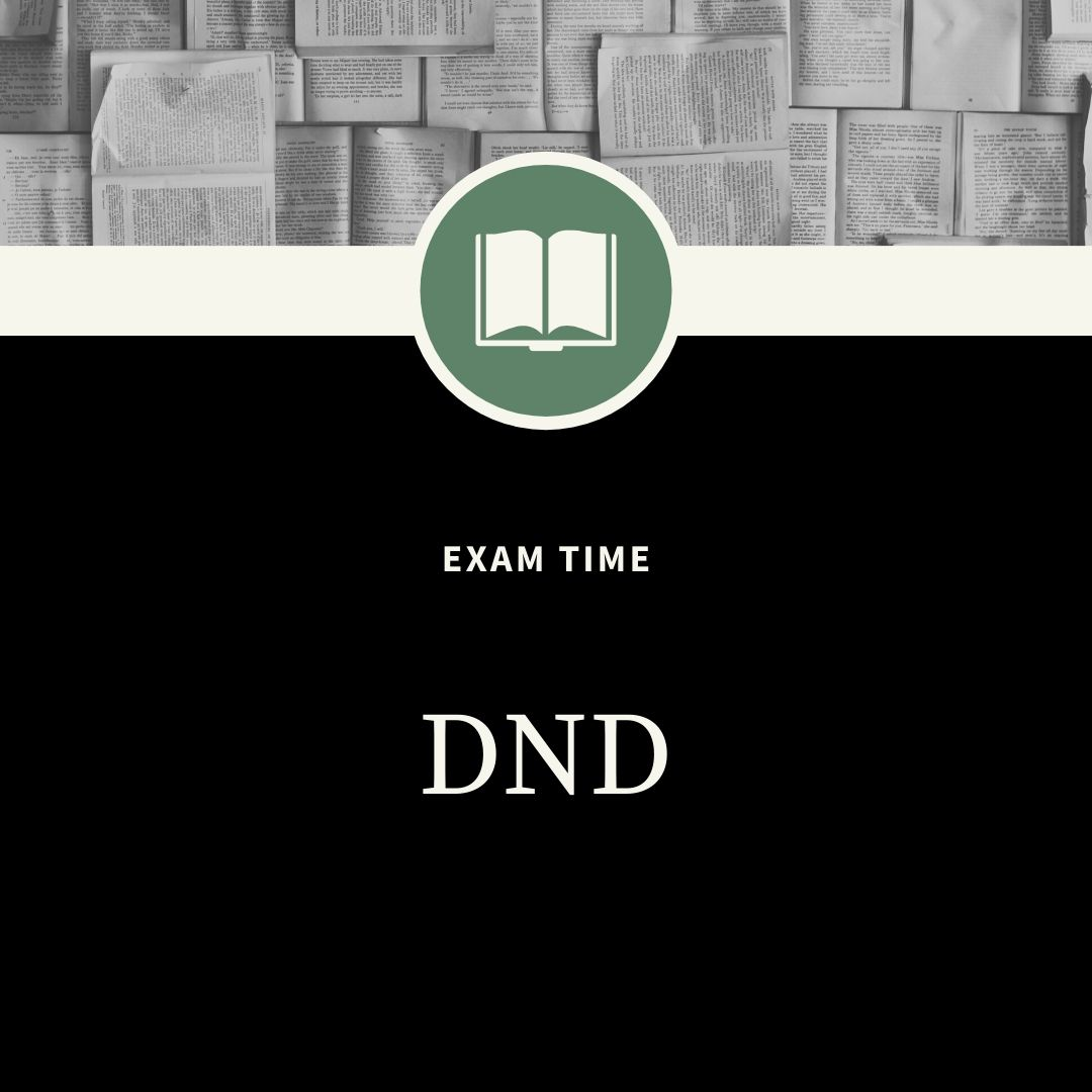 DND Exam WhatsApp Dp Image full HD free download.