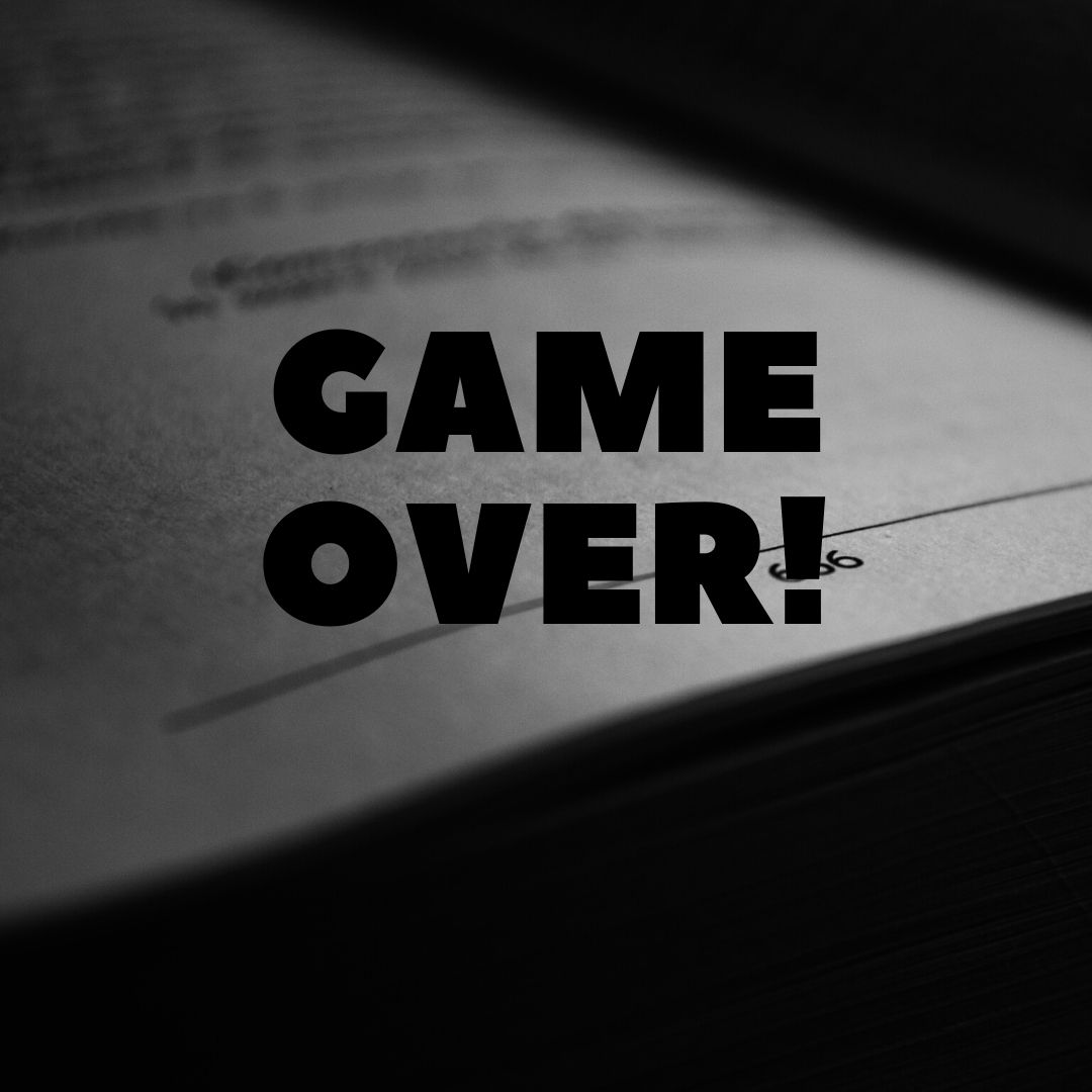 Game Over WhatsApp Dp full HD free download.