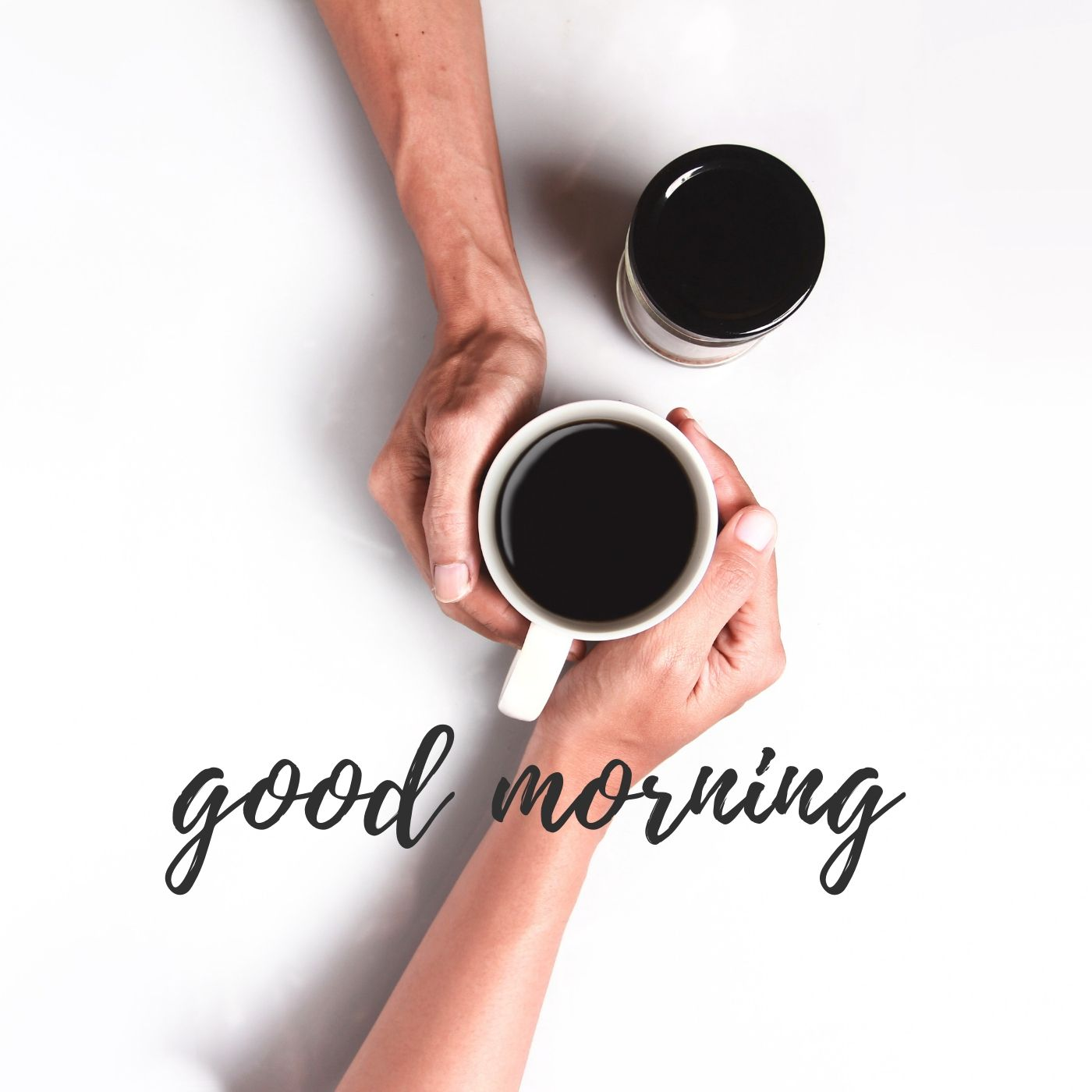 Good Morning Black Coffee Image full HD free download.