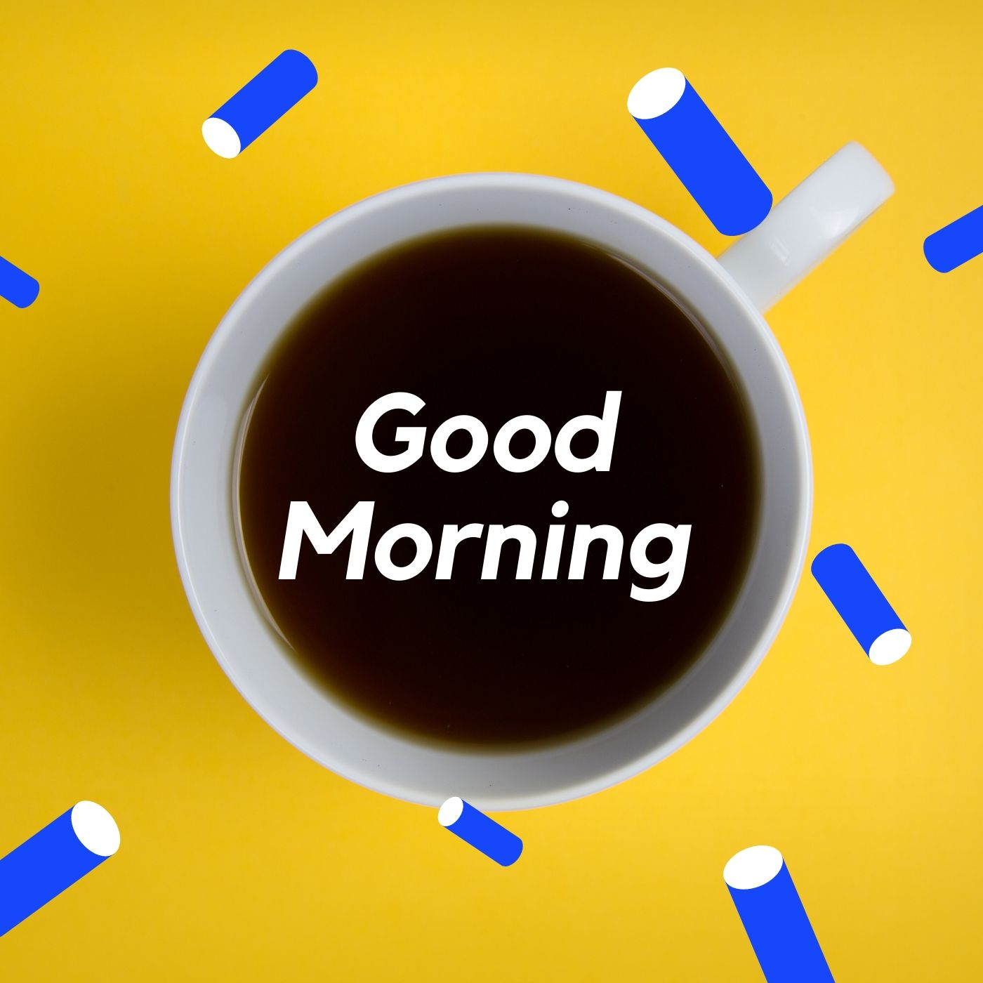 Good Morning Coffee image yello background full HD free download.