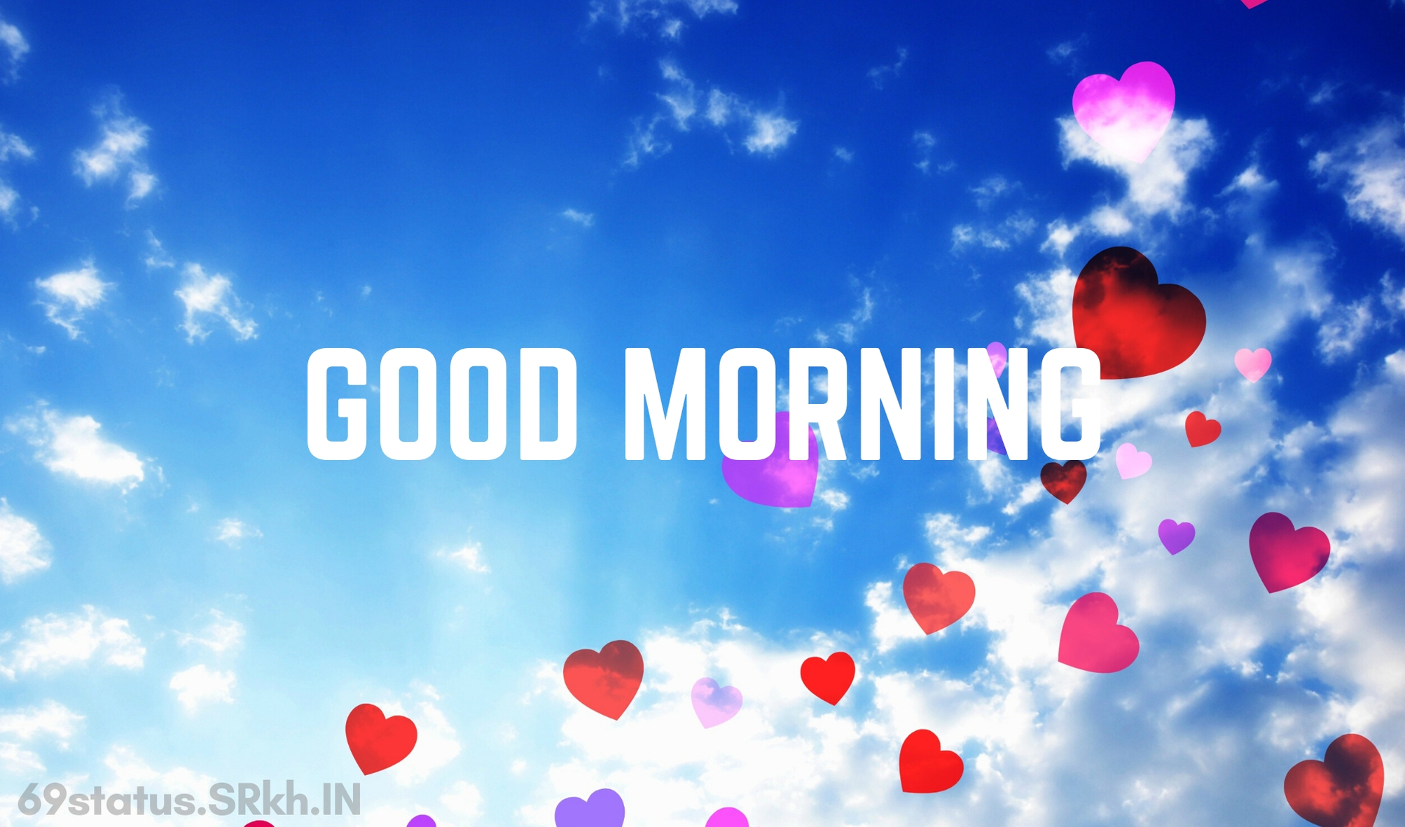 Good Morning Romantic blue sky Image full HD free download.