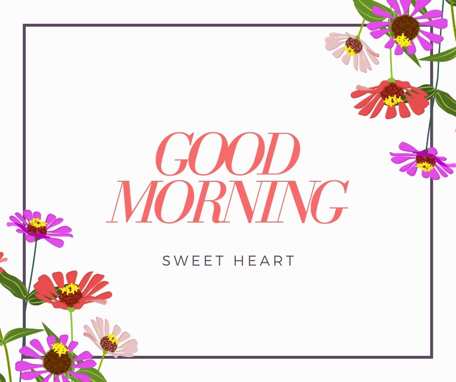 Good Morning Sweet Heart Image full HD free download.