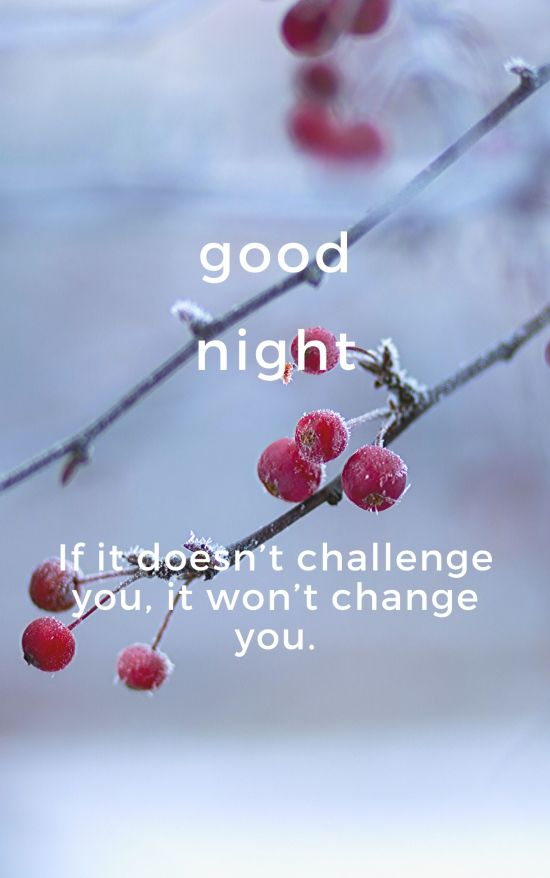 Good Night Quote pic If it doesn't challenge you, it won't change you