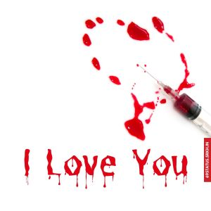 I Love You blood images full HD free download.