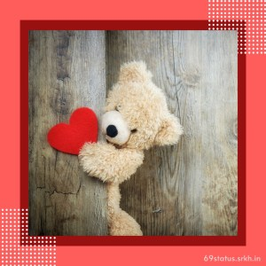Image Love Heart Teddy full HD free download.