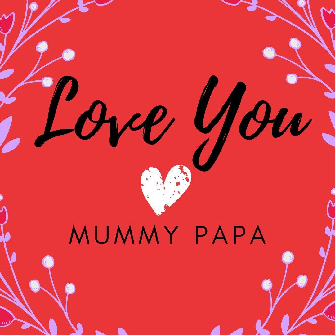 Love You Mummy Papa Dp image for WhatsApp full HD free download.