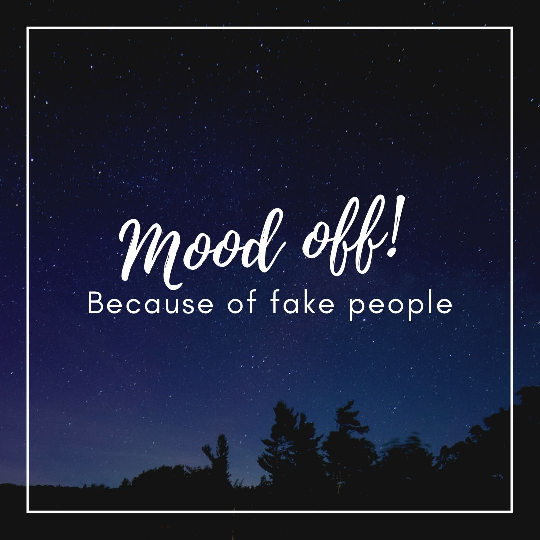 Mood off Fake Peope WhatsApp Dp Image full HD free download.