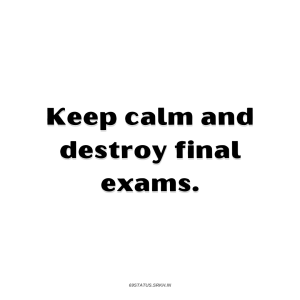 PNG Attitude Text Image Keep calm and destroy final full HD free download.