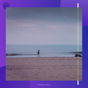 Sad Picture Sad Person Walking on the Beach full HD free download.