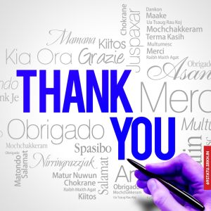 Thank You Images Blue Color full HD free download.