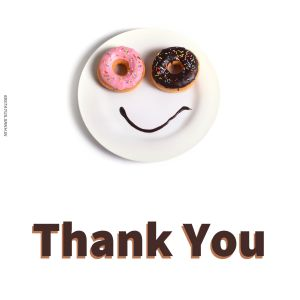 Thank You Smiley Images Donut full HD free download.