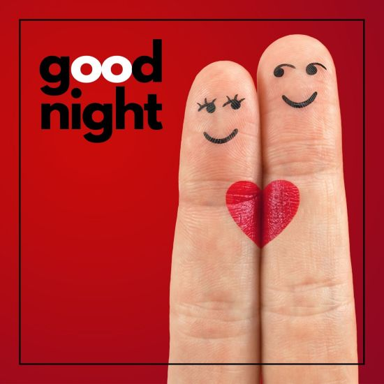 Two fingure Love Good Night Image
