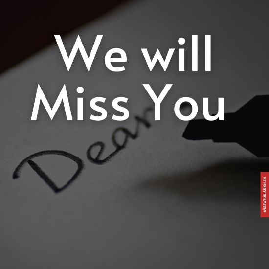 We will miss you images
