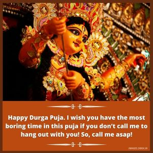 Durga Puja Message image full HD free download.