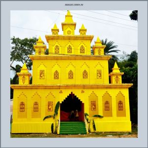 Durga Puja Modern Pandal Image full HD free download.