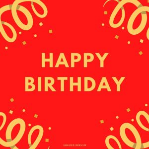 Happy Birthday Images red full HD free download.