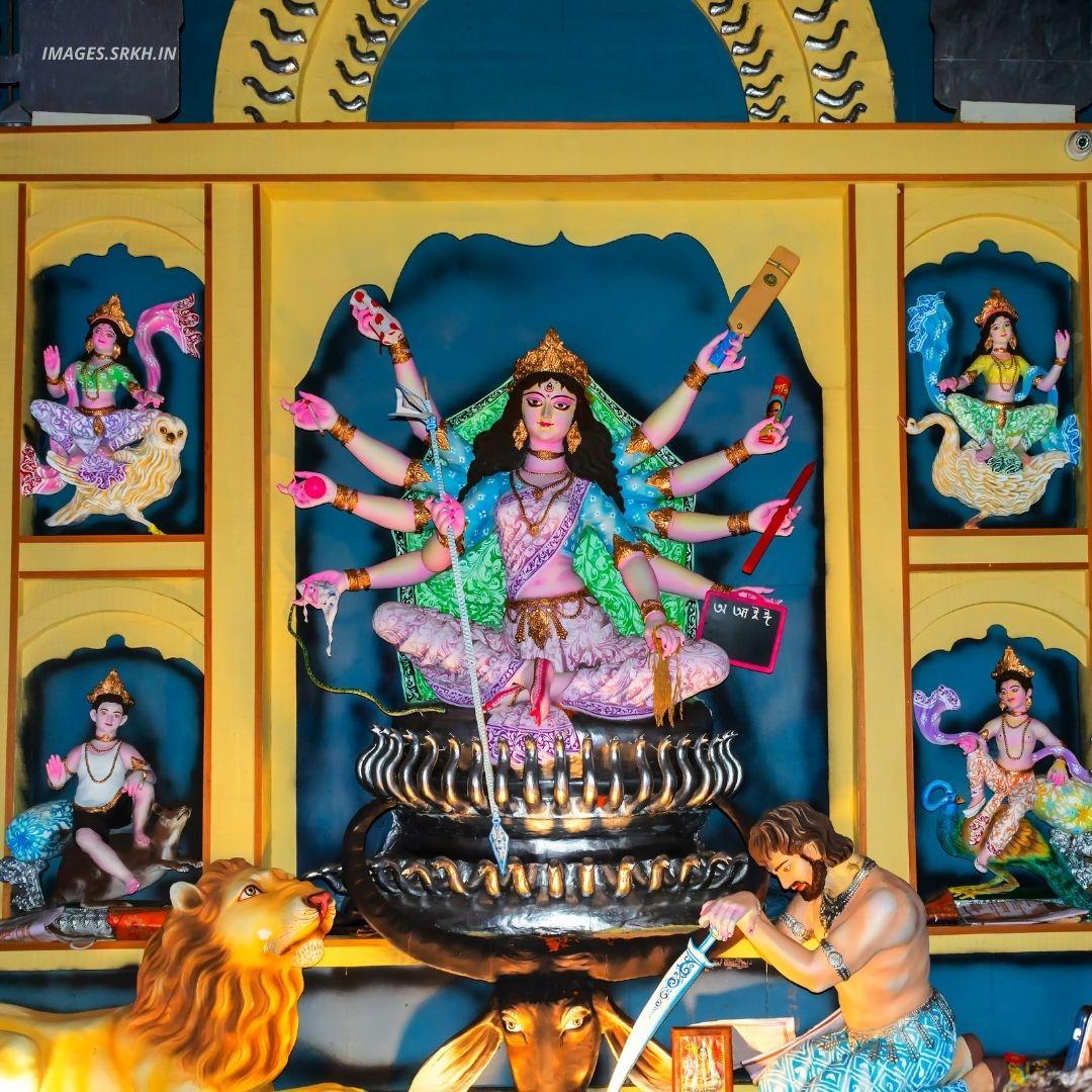 Kolkata Durga Puja Pandal Image full HD free download.