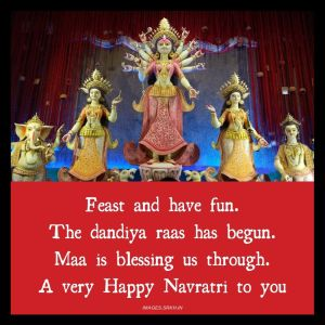 Navratri Wish Image full HD free download.