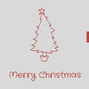 Outline Image Of Christmas Tree full HD free download.