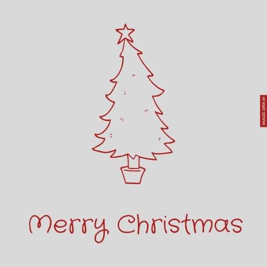 Outline Image Of Christmas Tree