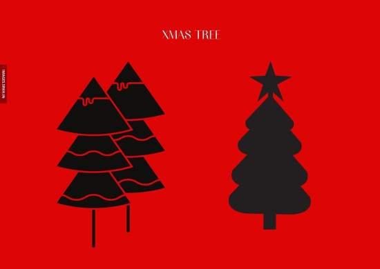 Xmas Tree Drawing Images