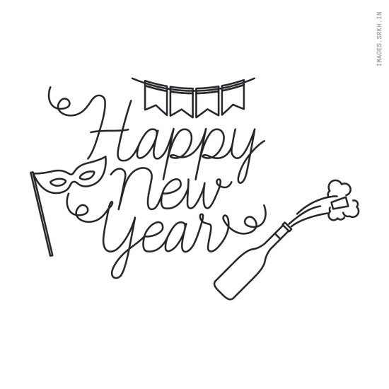 Happy New Year Png Text Image