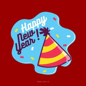 Happy New Year Sticker full HD free download.