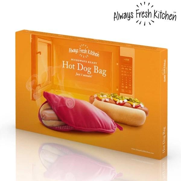 always fresh kitchen mikrowellen kochbeutel fur hot dogs