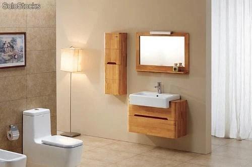 meuble salle de bain en bois massif orbois 80cm
