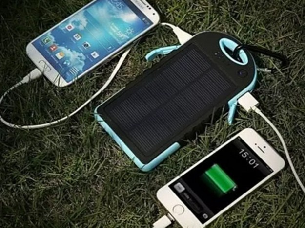 Water-Resistant Dual-USB Solar Charger for