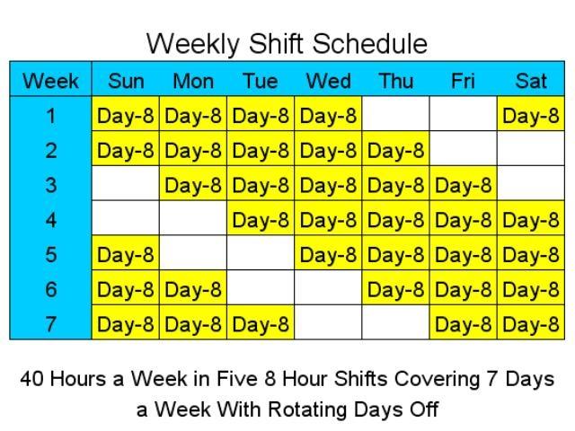 10 Hr Shift 4 4 Schedule